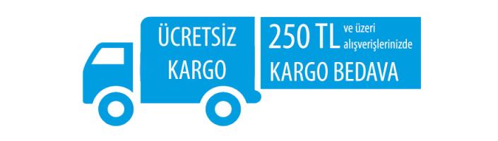 250 TL Üzerine Ücretsiz Kargo